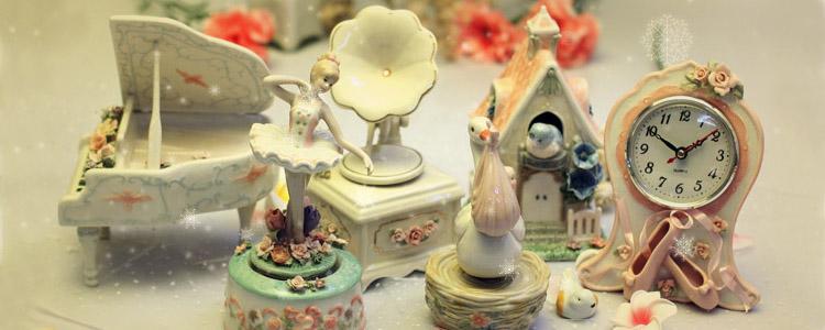 美国进口COSMOS陶瓷音乐盒八音盒 创意生日结婚庆礼物品 送男女生 家居摆件